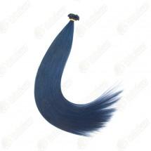 Волосы для наращивания, на капсулах, цветные пряди, цвет синий, длина 60 см